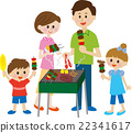 family, barbecue, barbecued 22341617