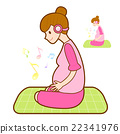 Prenatal maternal gymnastics mascot. 22341976