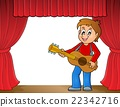 Boy guitar player on stage theme 1 22342716
