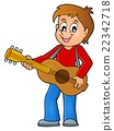 Boy guitar player theme image 1 22342718