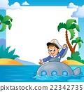 Frame with sailor on submarine 22342735