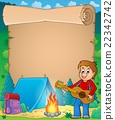 Parchment with boy guitarist in camp 1 22342742