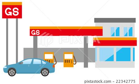 加油站 建築 矢量 22342775