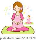 Prenatal maternal gymnastics mascot. 22342979