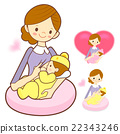 Mother breastfeeding her newborn. 22343246
