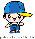 Cute Boy Mascot. Child and Kid Character Design  22343354