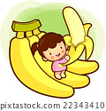 Children Mascot and banana.  22343410