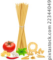 pasta with vegetables vector illustration 22344049