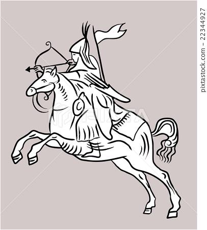 Archer rider horse. 22344927