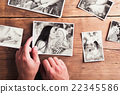 Mothers day composition. Black-and-white pictures 22345586