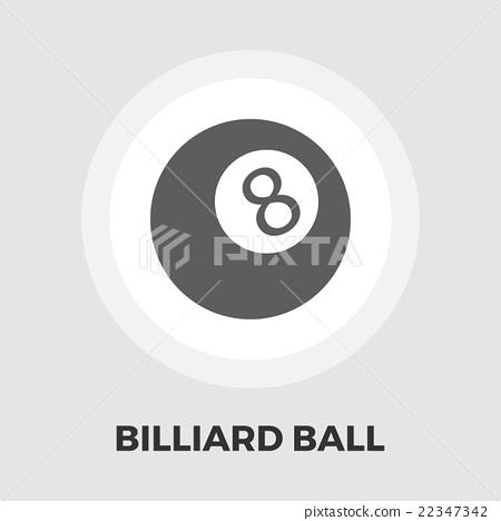 Billiard ball flat icon 22347342