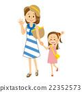 和母親一起出去的女孩 22352573