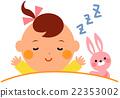 นอนตุ๊กตาของเล่นกับลูกน้อย 22353002