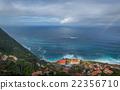 Porto Moniz aerial view from the mountains. 22356710