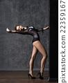 Young and beautiful fashion model posing 22359167