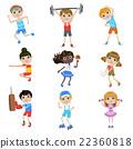 Children Doing Sports Set 22360818