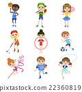 Kids Doing Sports Set 22360819