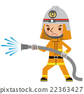 Fire fighter who uses fire fighting activity (Fire protection clothing) 22363427