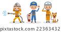 消防员的工作形象(消防活动,防灾指导,救生) 22363432
