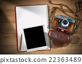 Old Camera - Instant Photo Frame and Notebook 22363489