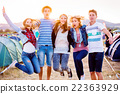 Group of teenagers at summer music festival 22363929