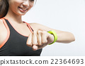 Health sport woman wearing smart watch device 22364693