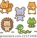 動物 人物 小動物 22371408