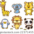 Animal illustration material set 【Zoo】 22371455