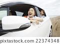 一个女人享受旅行 22374348