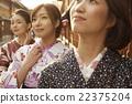 妇女用和服观光 22375204