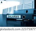 Salaries on Office Binder. Toned Image. 22375977