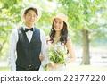 婚礼 新郎新娘 翠绿 22377220
