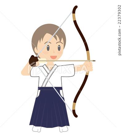 弓道 儿童 孩子 22379302
