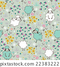 seamless pattern with sheep 22383222