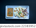 Slice of Grilled squid with Thai seafood sauce 22383952
