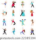 Dance Icon Flat 22385394