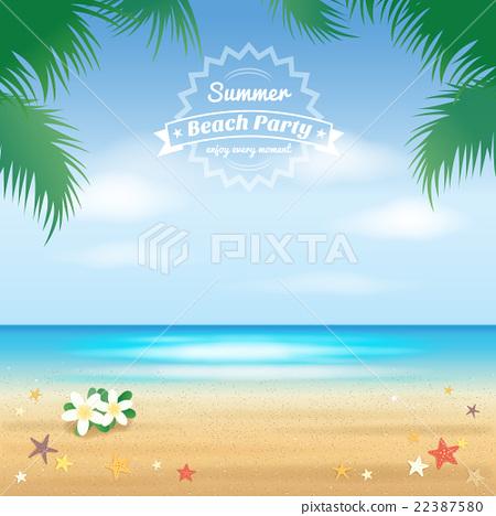 summer beach party hello summer background stock