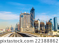 Skyscrapers in Dubai Downtown, United Arab 22388862