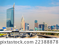 Skyscrapers in Dubai Downtown, United Arab 22388878