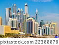 View of Jumeirah district in Dubai, UAE 22388879