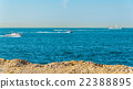 Persian Gulf near Palm Jumeirah island in Dubai 22388895