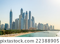 View of Jumeirah district in Dubai, UAE 22388905