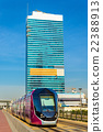 Ground-level power supply tram in Jumeirah, Dubai 22388913