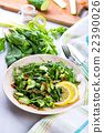 Green salad with onions, celery,ruccola, spinach 22390026