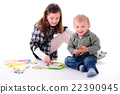 Kids are painting 22390945