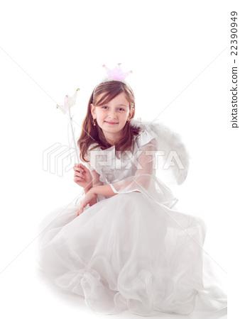 Fairy girl isolated 22390949