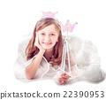 Fairy girl isolated 22390953