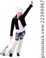 Girl with skates 22390967