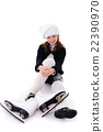 Girl with skates 22390970