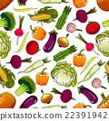 vegetable, vector, pattern 22391942
